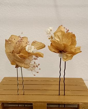 Horquillas Dorado Beige