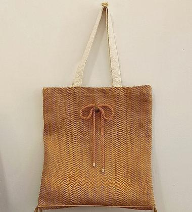 Yute Bag Lazo Metalizado
