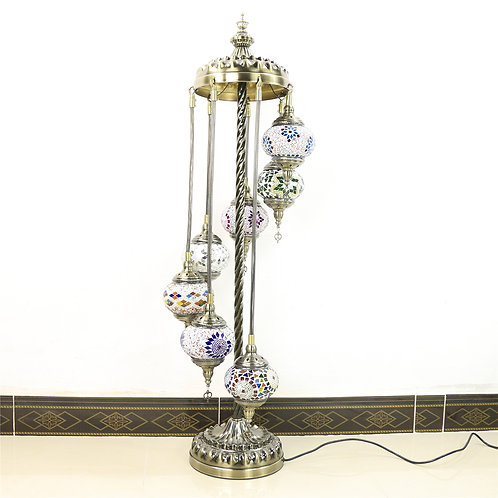7 Piece Turkish Handmade Mosaic Lamp