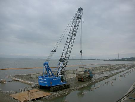 荒尾海岸高潮対策工事