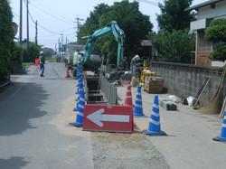 地域の下水工事