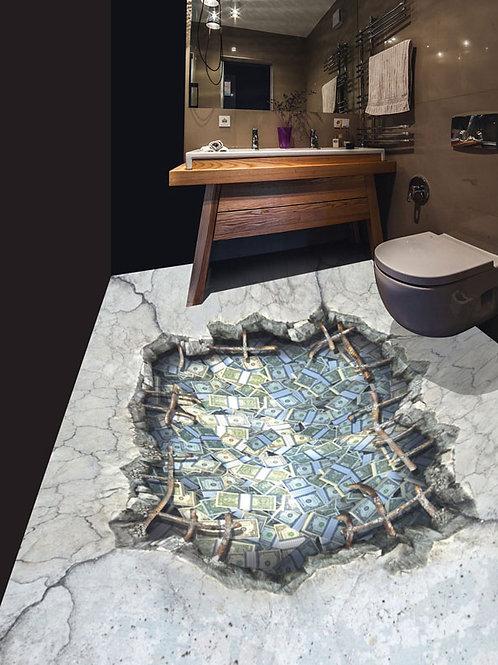 0004B Beton Durchbruch Geld (Belag) ab