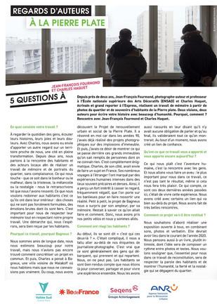 """Interview """"La Pierre"""""""