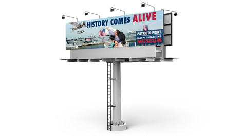 Patriots Point 'History Comes Alive' Billboard