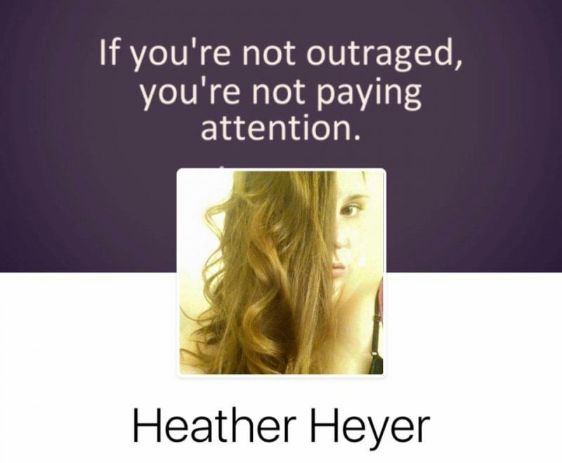 Her name was Heather Heyer.