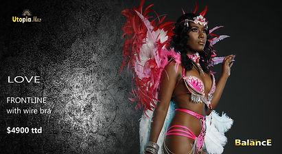 Trinidad carnival frontline costumes wire bra