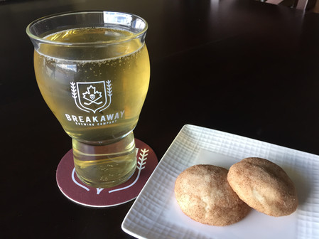 Pale Ale and Snickerdoodle cookies