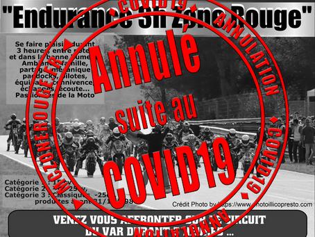 Annulation Course Endurance 3H du Luc