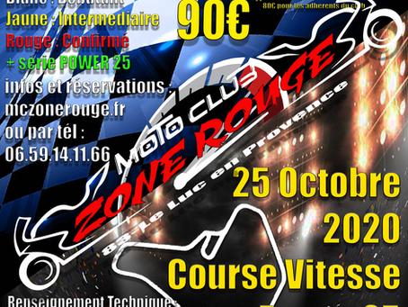 Week-End Roulage Entrainement + Course Vitesse Power 25 le  24 et 25 octobre 2020