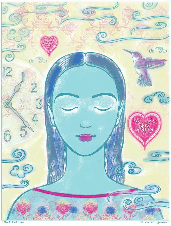 Meditation illustration.
