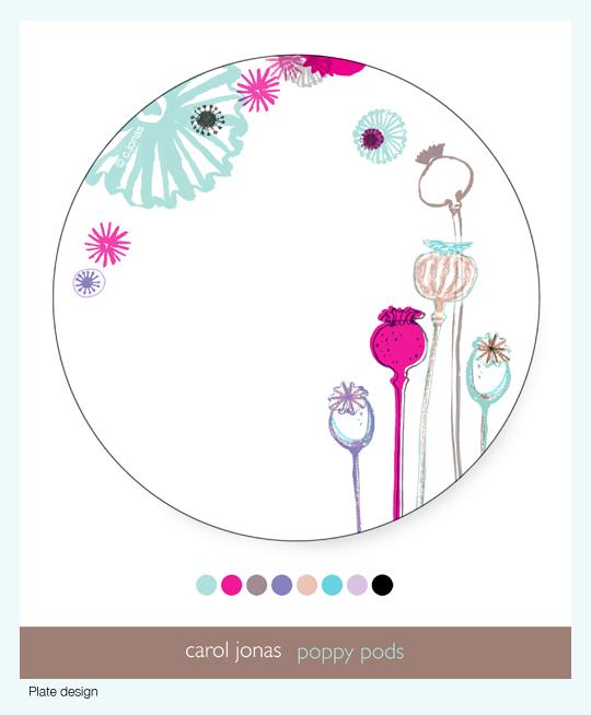 Poppy pods plate design.