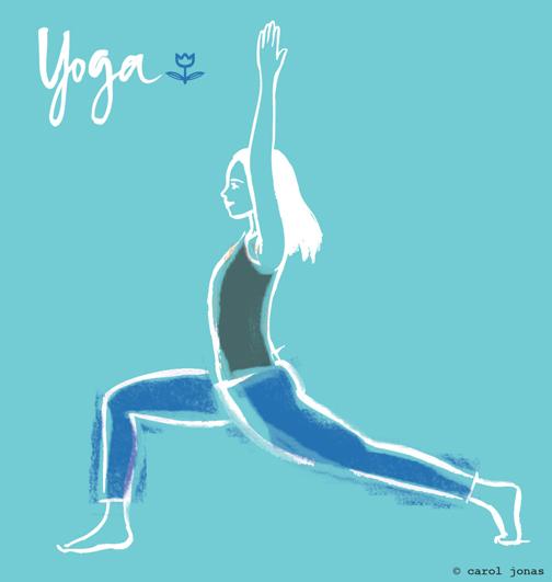 Yoga flyer illustration.
