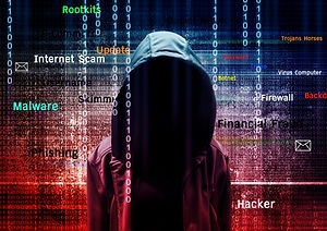 Computer hacker or Cyber attack concept