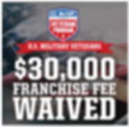 US Military Veterans enjoy a waived $3000 franchise fee0