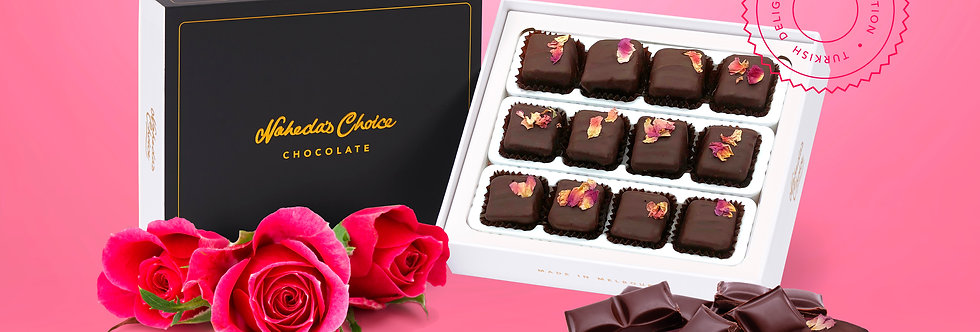 Chocolate Coated Rose 12pc