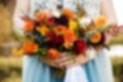fall dahlia bridal bouquet wedding flowers