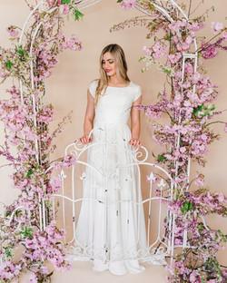 spring blossom arch wedding