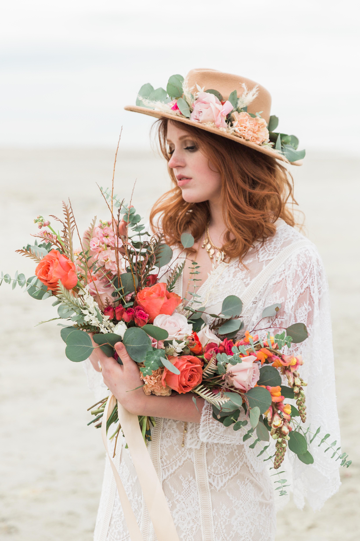 bohemian wedding bridal bouquet