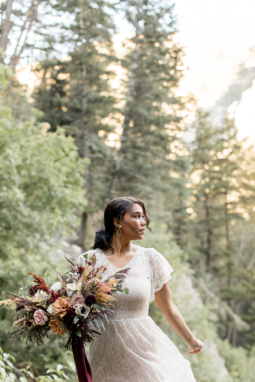 fall mountain wedding bouquet