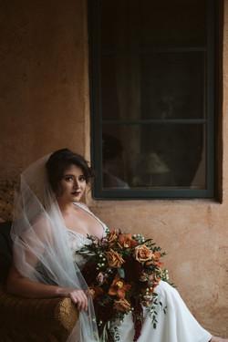 cascading fall wedding bouquet