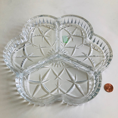 3 Section Glass Serving Tray