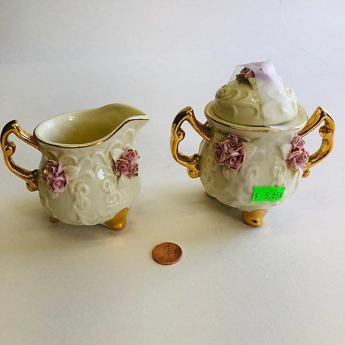 2 PC Victorian Style Cream& Sugar Set
