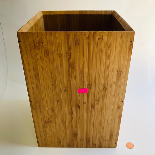 Rectangular Bamboo Trash Can