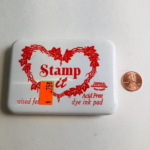 Stamp it Acid free Pigment Stamp - Red