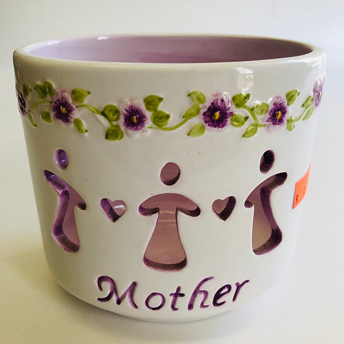 Glass Mother Votive Holder