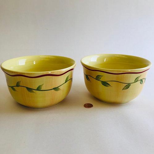Pfaltzgraff Hand Painted Soup Bowls (pair)