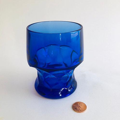 Cobalt Blue Small Pedestal Juice Glass