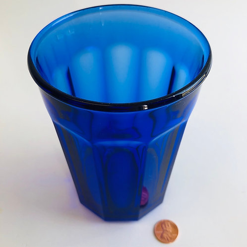"5.5"" Cobalt Blue Drinking Glass"