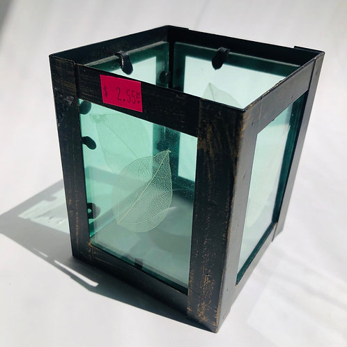 "4.5"" Glass Tea Candle Box"