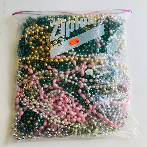 Gal. Sized Bag of Assorted Color Marti Gras Necklaces