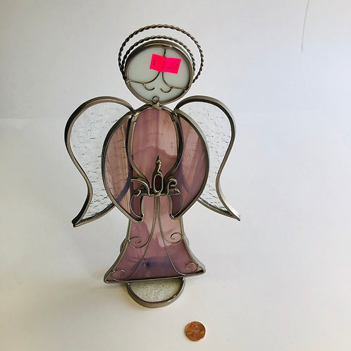 Stained Glass Angel w/Face
