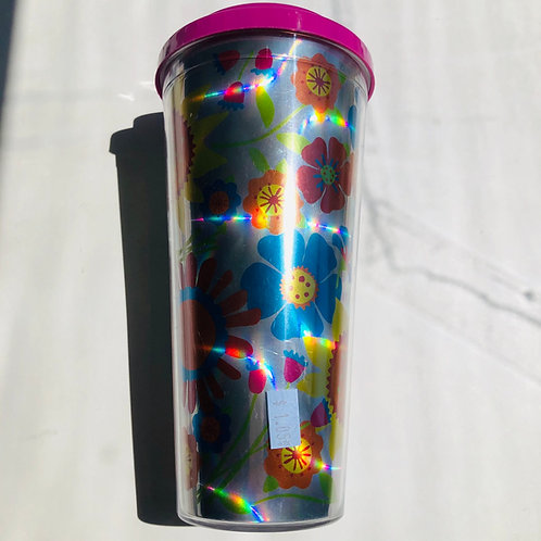 Designer Flowered Travel Cup