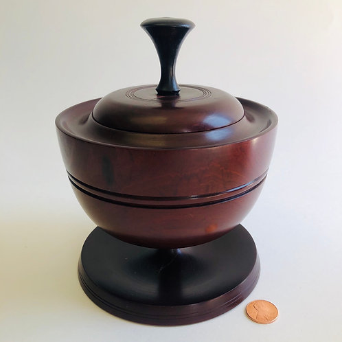 Cherry Wood Decorative Urn