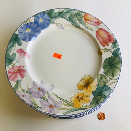 """10"""" Floral Pattern Dishes"""