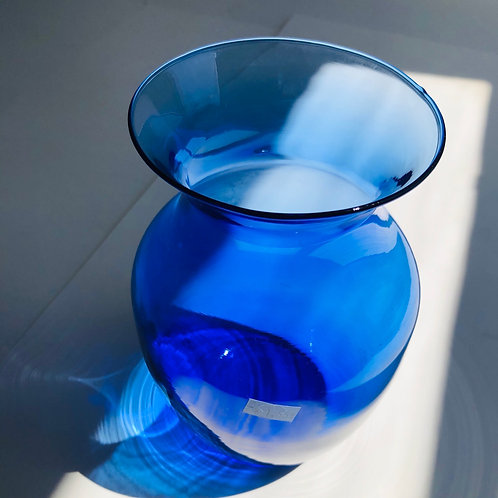 Clear Blue Traditional Vase