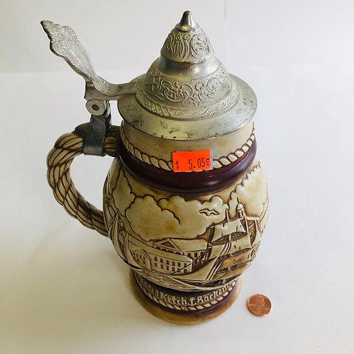 Avon Ceramic Sailboat Stein