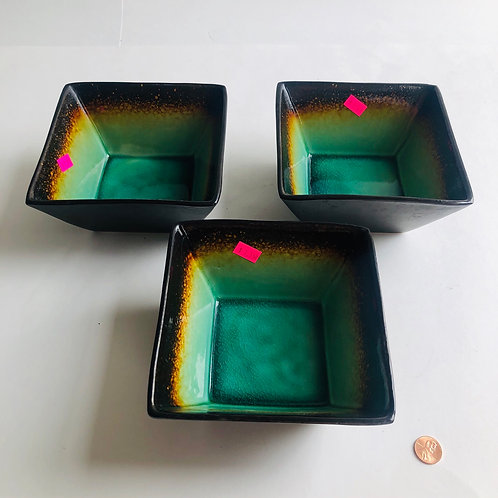 Square Bowl and Plate Set