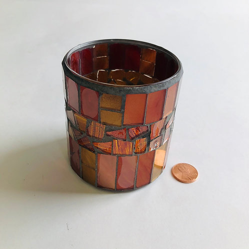 """3"""" Stained Glass Candle Jar"""