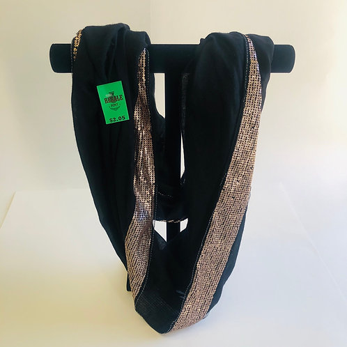 Black Infinity Scarf w/ Gold Sequence