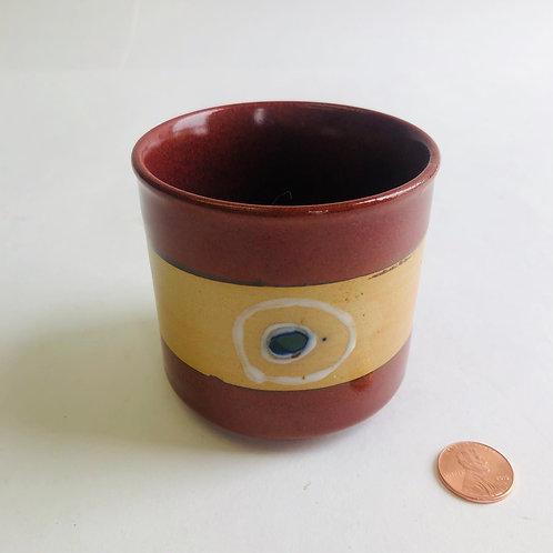Small 2-tone Brown Palm Coffee Mug