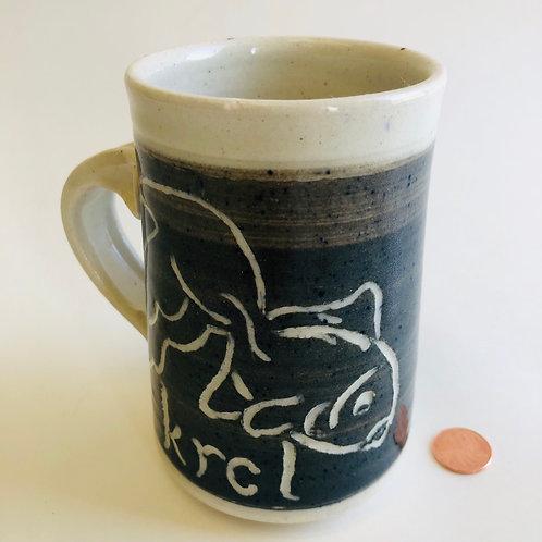 Wendy Wood Stoneware Pottery Fish Mug
