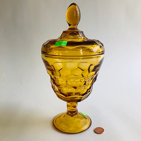 Amber Colored Glass Urn