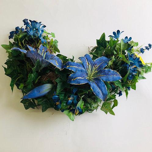 Blue Floral Swag