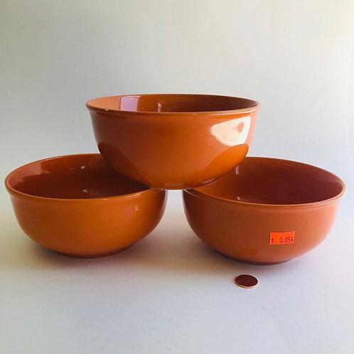 Royal Norfolk Orange Bowls - Set of 3