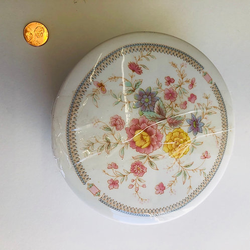 Floral Dish with Lid