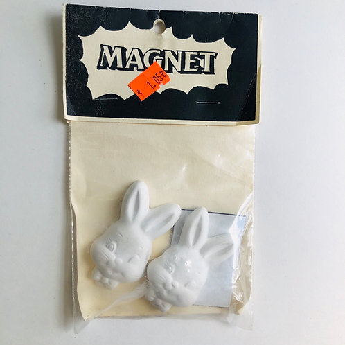 Ceramic Bunny Head Magnets 2-Pack